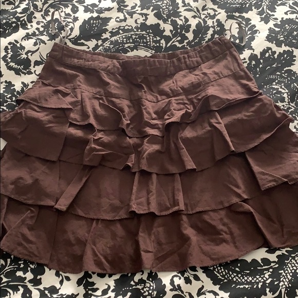 Anthropologie Dresses & Skirts - Anthropologie Odille Ruffle Skirt Size 4